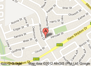 Map to Pretoria East Optometrist